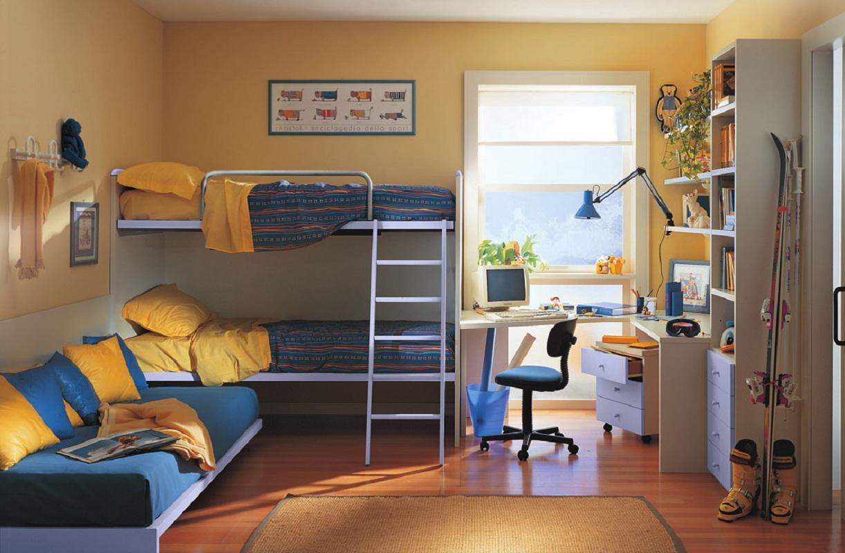 трехместная кровать для детей