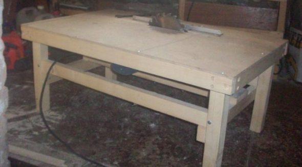Как сконструировать стол для циркулярной пилы своими руками с механизмом подъёма