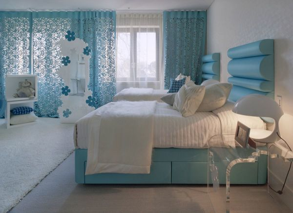 Голубая гостиная: 100 фото-новинок дизайна и сочетаний