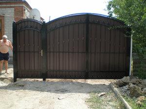 простые ворота для частного дома