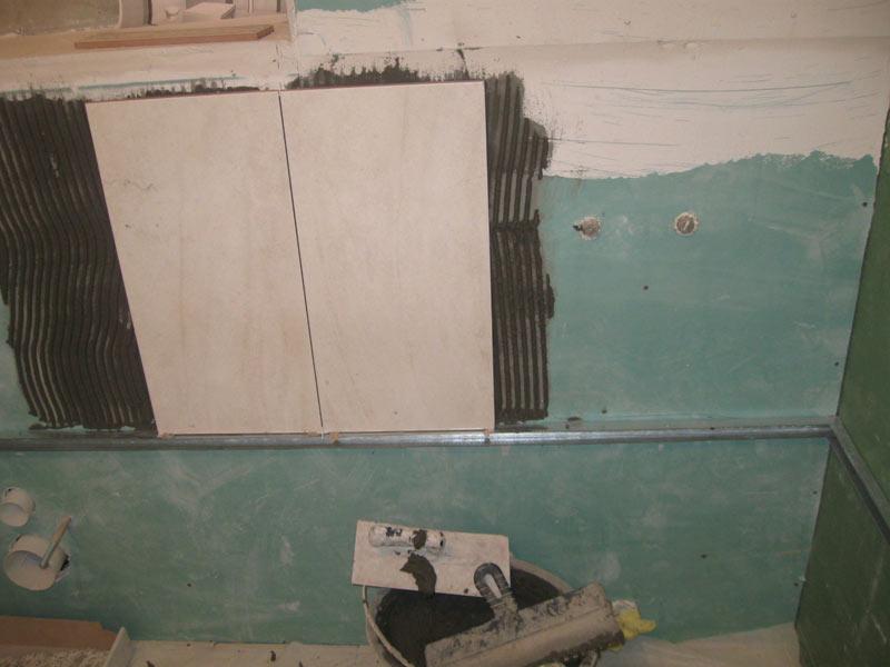 Технология укладки плитки в ванной на гипсокартон