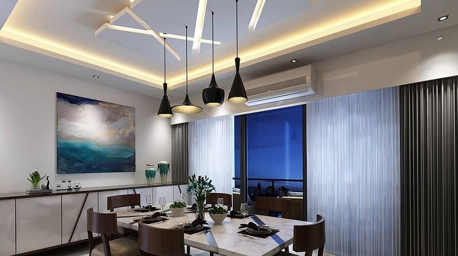 Потолки из гипсокартона: дизайн для зала, двухуровневые, фигурные, фото