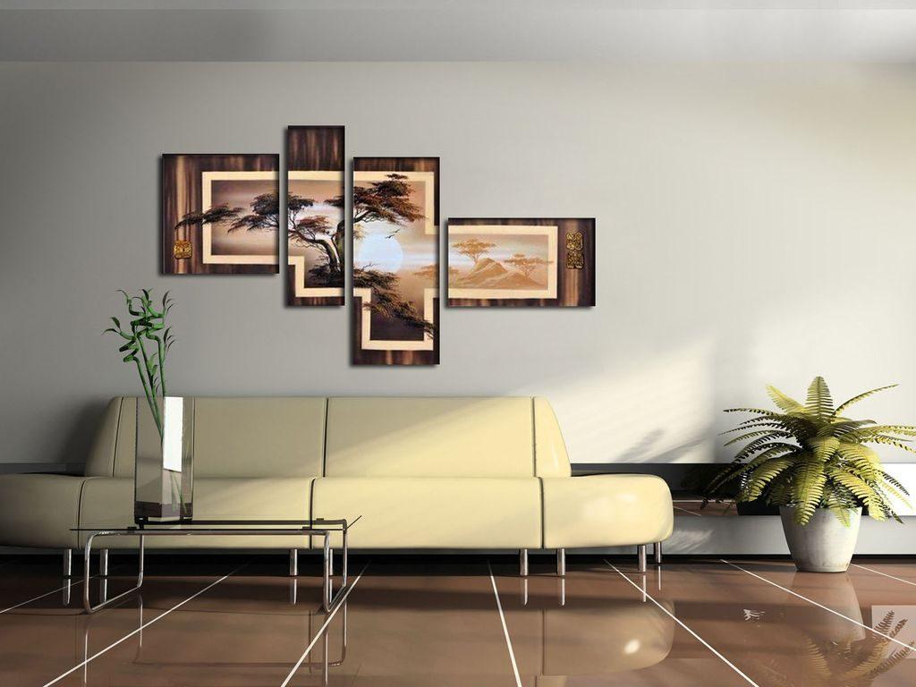 Как оформить стену в гостиной над диваном, особенности разных способов