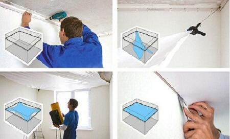 Выбираем схему освещения для натяжных потолков: варианты и примеры решений