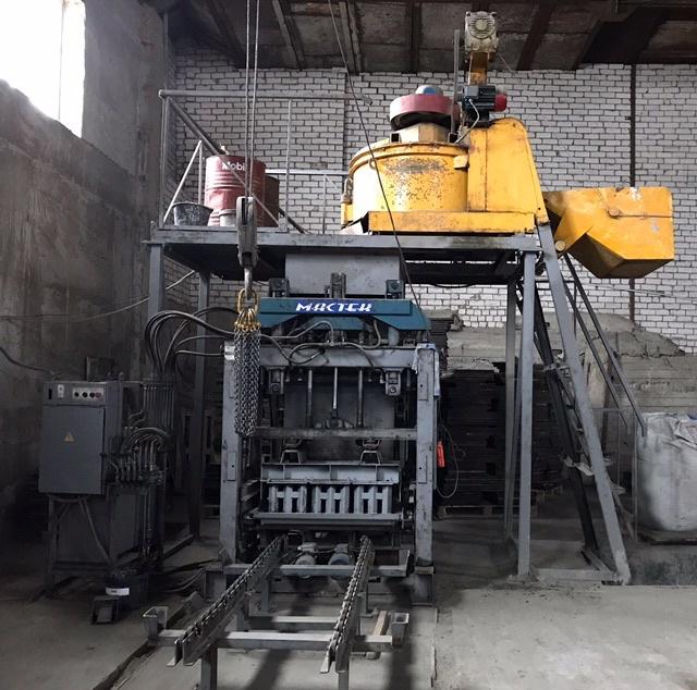 Оборудование для мелкого производства тротуарной плитки