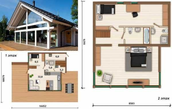 Фотографии каркасных домов: проекты, чертежи и фото строительства