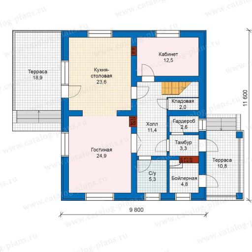 проект дома 6 на 12 двухэтажный