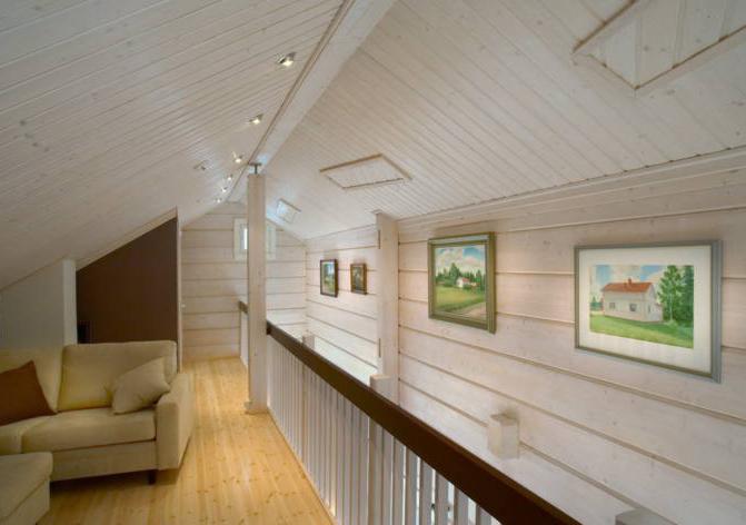 как покрасить имитацию бруса внутри дома
