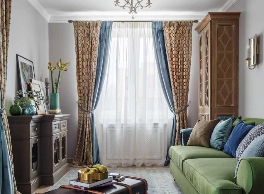 шторы оливкового цвета в спальню