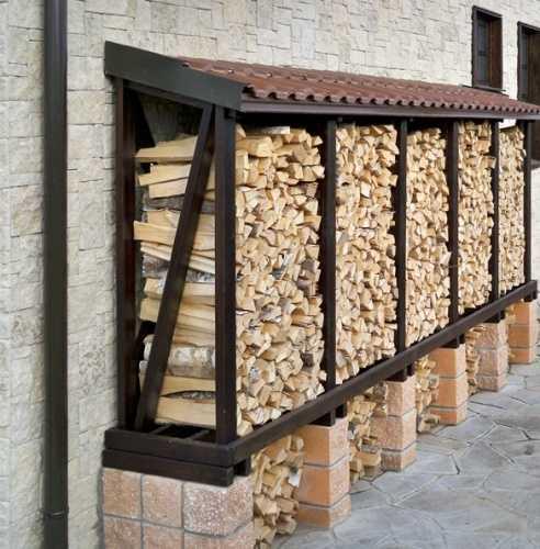 подставка для дров в баню своими руками