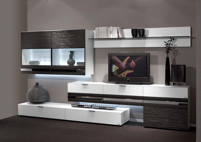 Стенки горки в гостиную в современном стиле фото