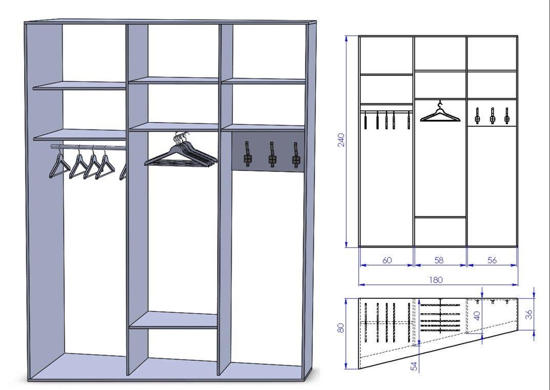 Шкаф-купе проектирование и изготовление своими руками