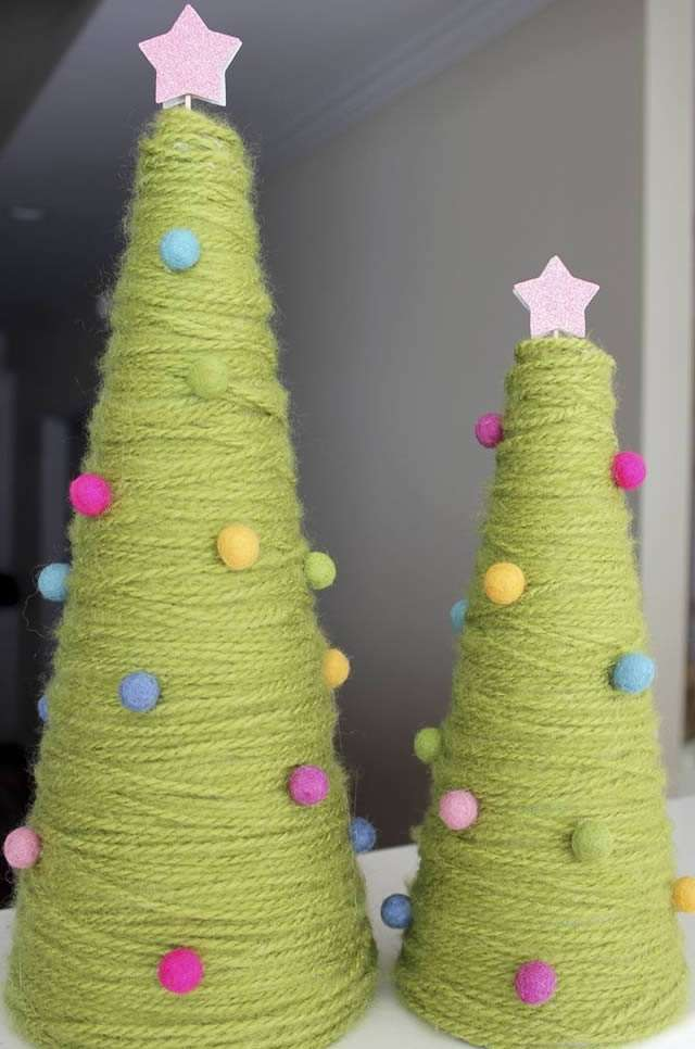 Бонсай топиарий ёлка мастер-класс новый год рождество декупаж моделирование конструирование папье-маше ёлка-подвеска для новогоднего шара картон краска салфетки