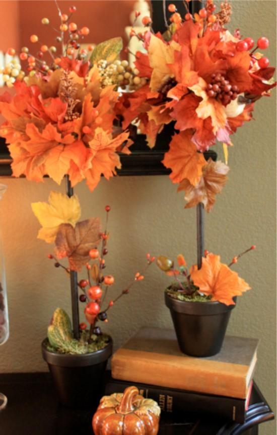 композиции из листьев на тему осень