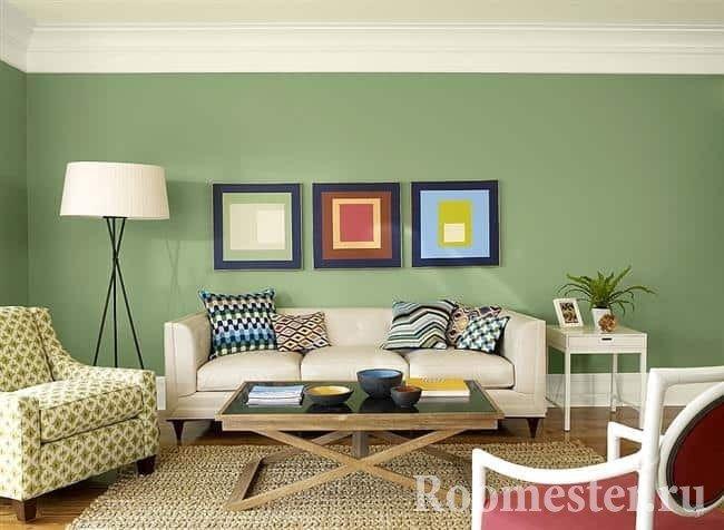 Диван зеленый, плюсы и минусы, ассортимент, актуальность