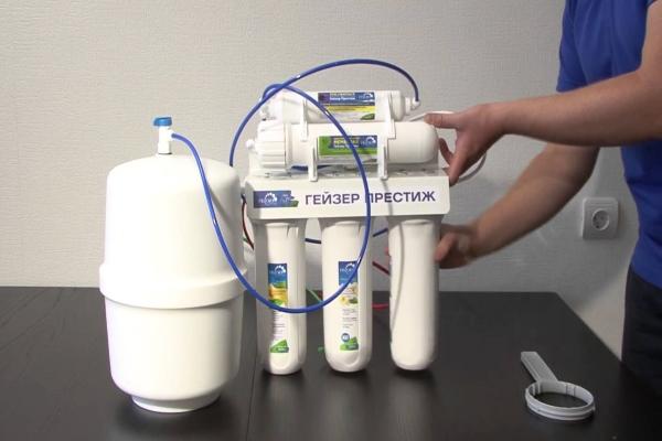 Гейзер 3 фильтры для воды замена картриджей — канализация