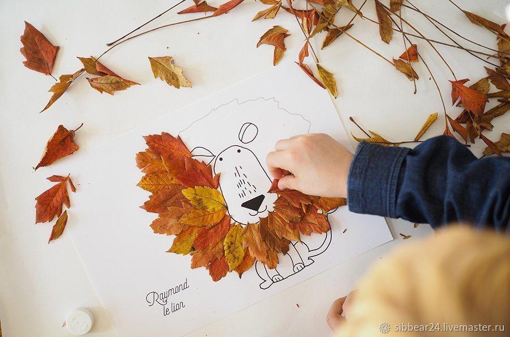 ваза с осенними листьями аппликация