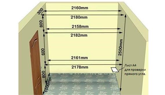 Правила создания проекта для шкафа купе, важные моменты