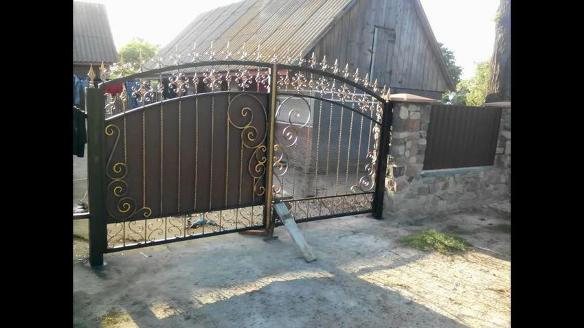 ворота с элементами холодной ковки