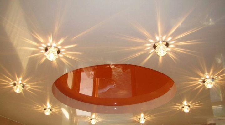 точечные светильники для натяжных