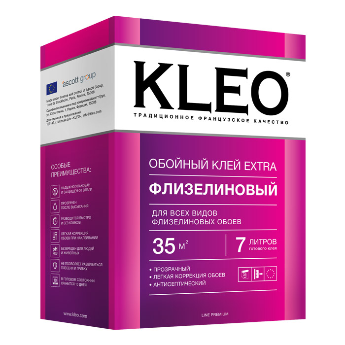 клей kleo для флизелиновых обоев