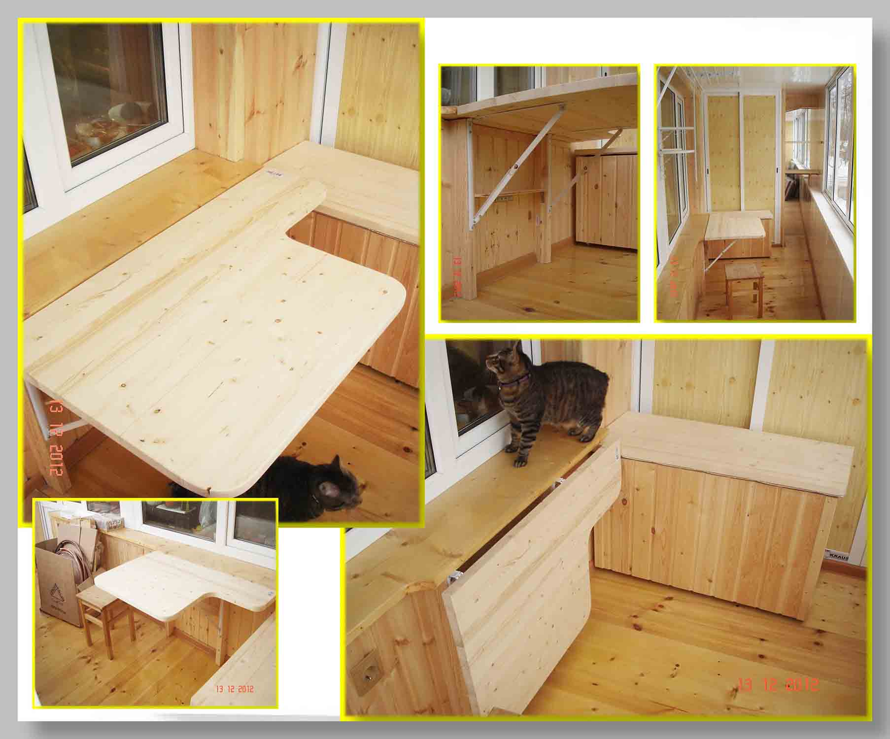 Откидной столик на балкон своими руками : как сделать стол на лоджию, фото инструкция
