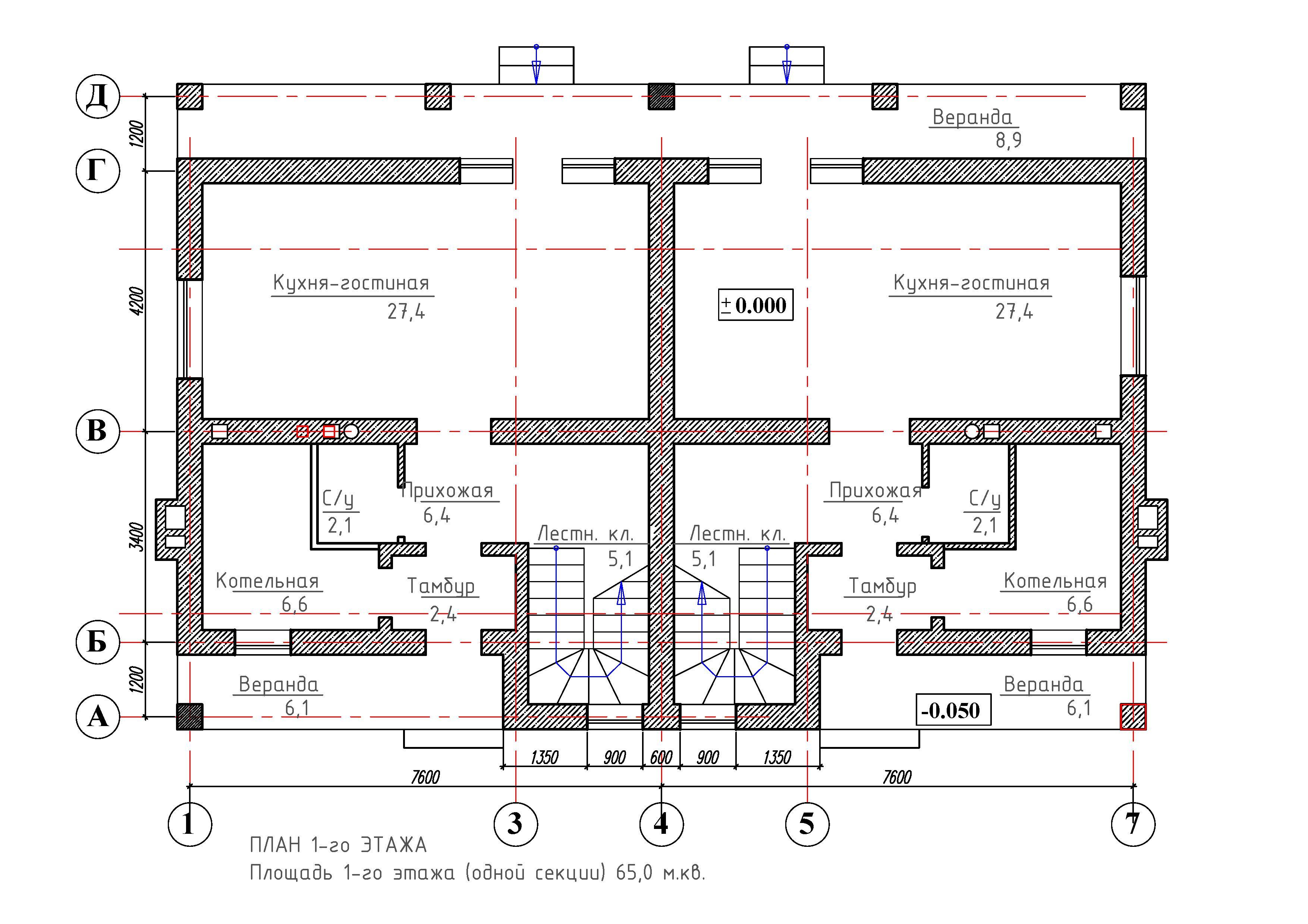 Проекты таунхаусов и дуплексов на 2, 4 семьи эконом класса, двухэтажные, особенности, фото в каталоге