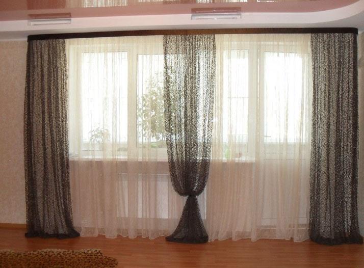шторы в спальню 2 окна
