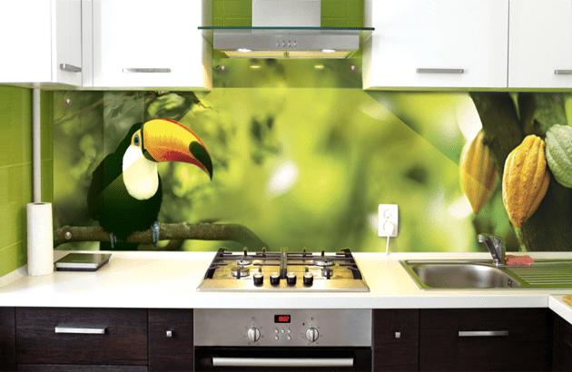 Фартук для кухни из стекла (70 фото): идеи дизайна интерьеров