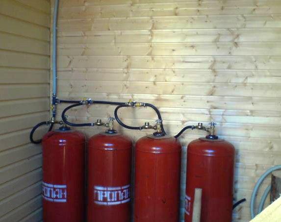 отопление дома газом из баллонов