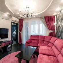 Черные шторы (39 фото): занавески в интерьере, сочетание с красным и золотым, советы по выбору в спальню штор с рисунком