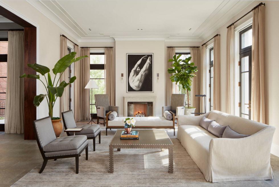 Дизайн зала в квартире и доме - 50 фото интерьера
