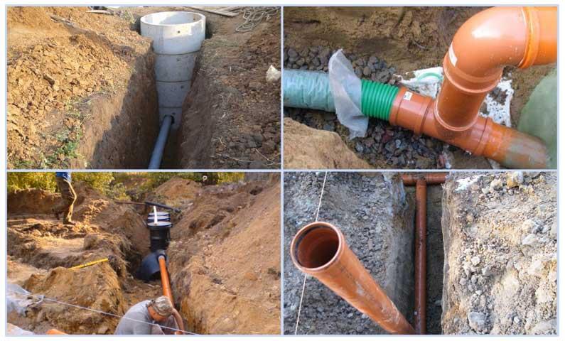 Утепление канализационных труб наружной канализации в земле
