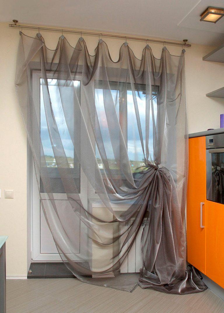 Шторы сетка в интерьере, занавески сетки (10 фото)