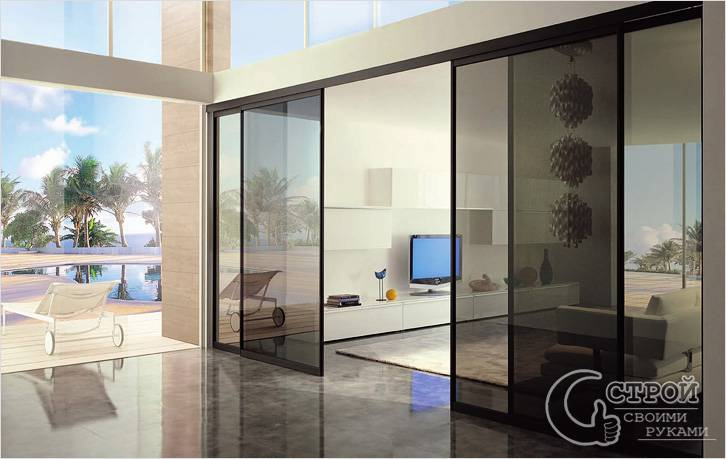 Раздвижная межкомнатная одностворчатая дверь (30 фото): механизм открывания в стене