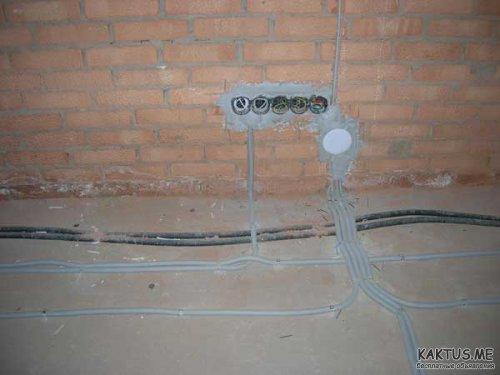 проводка под полом
