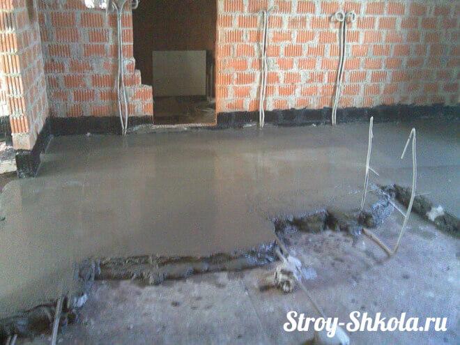 Монтаж сухой, полусухой и мокрой стяжки пола