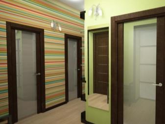 Обои в коридор, виды и характеристики - фото примеров