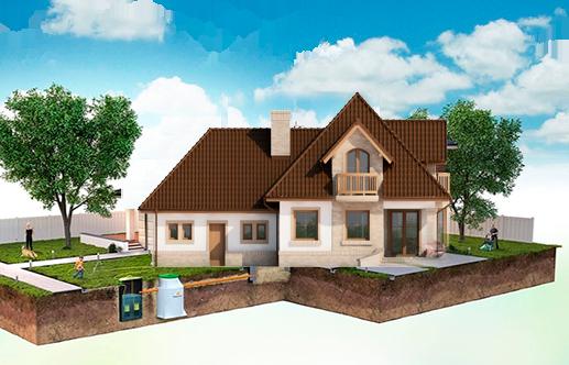 Септик для частного дома – как выглядит система канализации