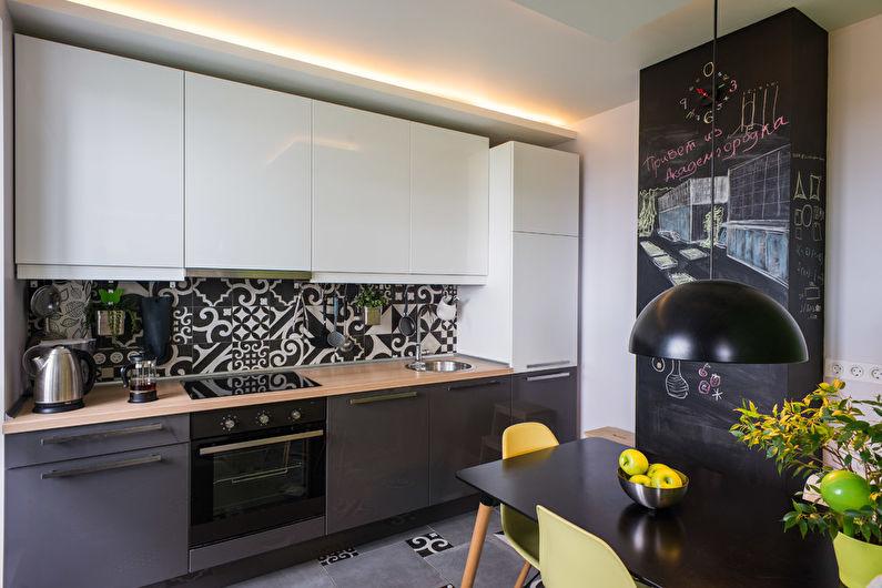 дизайн кухни под дерево в современном стиле