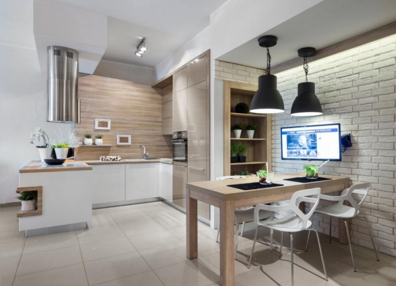 Особенности использования декоративного камня в интерьере кухни