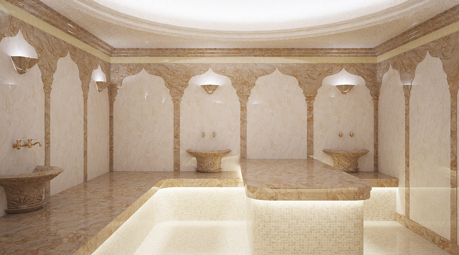 Турецкая баня: вода имрамор, миг чудесный