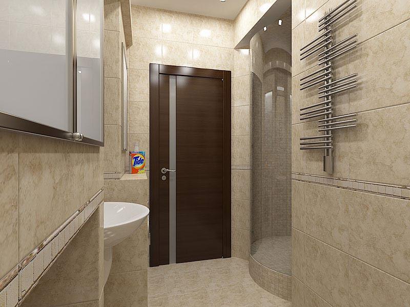 Двери в ванную комнату, виды и особенности - фото примеров