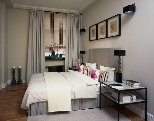дизайн штор для маленькой спальни