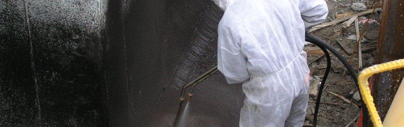 Гидроизоляция фундамента жидкой резиной