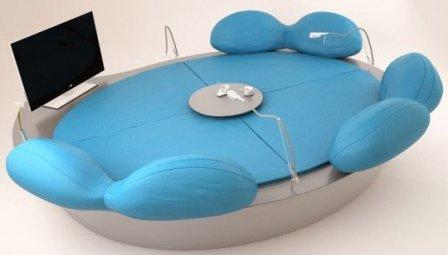 Круглый диван кровать дизайн
