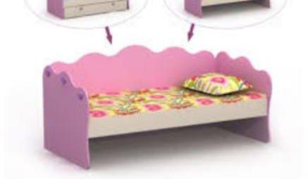 Детский диван-кровать для девочек