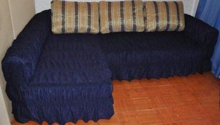 фото накидки на угловой диван
