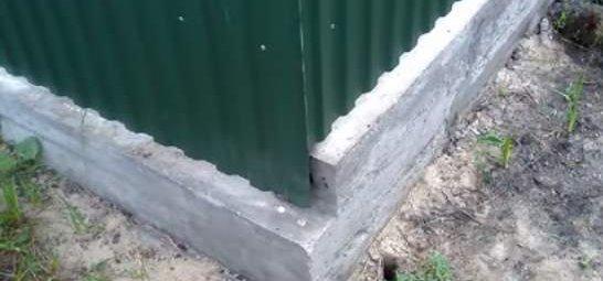 Забор своими руками из профнастила