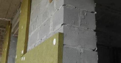 Утепление стен каменной ватой